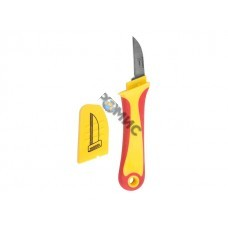 Нож монтажника нержавеющая сталь прямое лезвие Rexant