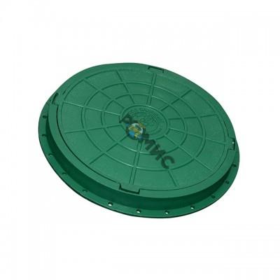 Люк полимерный САДОВЫЙ легкий (730х580) h=60 15кН (зеленый) Россия