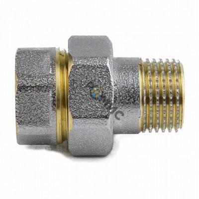 Соединитель латун никел Ду 25 М/Р американка 9013-03 Aquasfera Россия