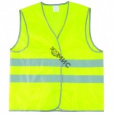 Жилет сигнальный р-р 56-58 (размер XXL) желтый флуоресцентный, Сибртех (89516) Россия
