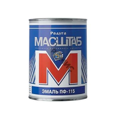 Эмаль ПФ 115 ярко-зелёная  1,8 кг МАСШТАБ, 4680037191528, Россия