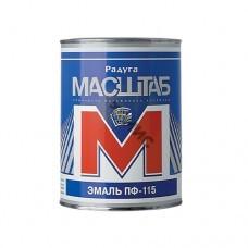 Эмаль ПФ 115 голубая  0,8 кг МАСШТАБ, 4680037190309, Россия