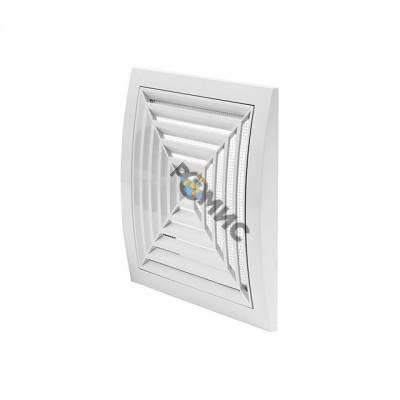 Вентиляционная решетка потолочная 148 x 153мм с фланцем, ND10G, Латвия