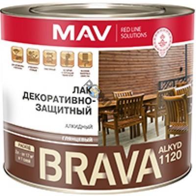 Лак BRAVA ALKYD 1120 бесцветн. глянц. 1,0л (0,7кг) декоративно-защитн. (ПФ-1120), РБ