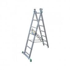Лестница алюм. 2-х секц. 2х 7 ст. (199/311см) SKALA 01207, РБ