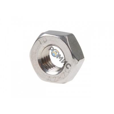 Гайка М6 шестигр., нерж.сталь (А2), DIN 934 (25 шт в зип-локе) STARFIX