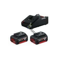Комплект аккумулятор 18.0 В GBA18 V 2 шт. + зарядное устройство GAL 18-40 (Набор GBA 18 V 4,0Ah 2 шт