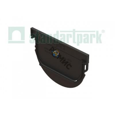 Заглушка торцевая S'park ЗЛВ-10.14.10-ПП для лотка вводоотводного пластикового 6829 (Стандартпарк)