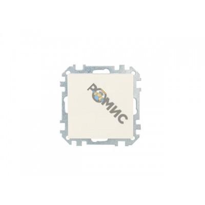 Выключатель 1 клав. проходной (скрытый) бежевый, Стиль, BYLECTRICA (Выключатель одноклавишный для уп
