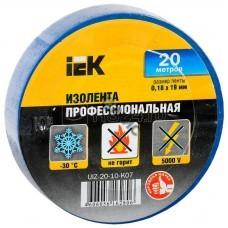Изолента ПВХ синяя 19ммх20м (0,18) ИЭК UIZ-20-10-K07, РФ