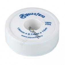Лента ФУМ катушка 19ммх0,1ммх15м PTFE вода 6020 Aquasfera 6020-03 Россия