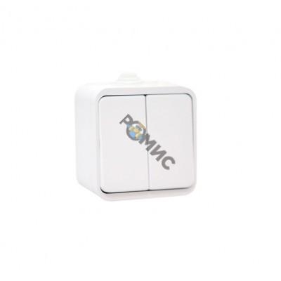 Выключатель 2-кл. ОП Клио 10А IP44 бел. Universal К2223, РФ