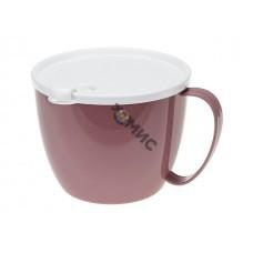 Кружка для супа 0,7 л с крышкой (ягодный) (IDEA)