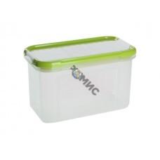 Емкость для сыпучих продуктов с дозатором Bono 0,75 л, оливковая роща, GIARETTI (GR2235ОЛ) Россия