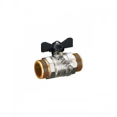 Кран шаровой лат.DN 15 (РР) РN4.0 МПа LD Pride 47.15.Н-Н.Б (вода),р/бабочка, РФ