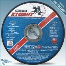 Отрезной круг 125х1,2х22,2мм д/мет Knight 41, MM, 80M/S K804112512M, Китай