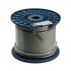 Трос для растяжки в оплетке ПВХ, М 3/4, (бухта 250м)  DIN3055  Россия