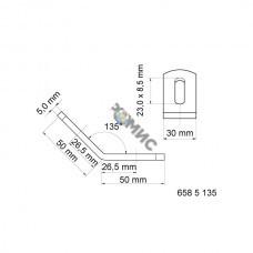 BIS Уголок соединительный WM0-35 135°, 50х50мм, Украина