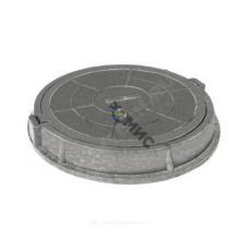 Люк полимерн (средний) круг 760х630 h=110 серый 125кН Сантехкомплект Россия