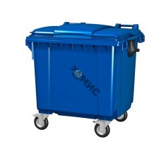 Контейнер для отходов пластиковый MGB 1100л. с плоской крышкой синего цвета W