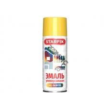 Краска-эмаль аэроз. универсальная желтый STARFIX 520мл (1018) (Цвет желтый)