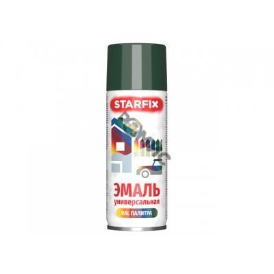 Краска-эмаль аэроз. универсальная зеленый темный STARFIX 520мл (6009) (Цвет зеленый темный)