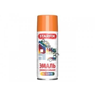 Краска-эмаль аэроз. универсальная оранжевый STARFIX 520мл (2004) (Цвет оранжевый)
