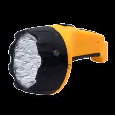 Фонарь аккумуляторный ручной MLA 04 15LED 200лм 6ч 2 реж. з/у 230В черн.-желт. IN HOME 4690612031781, РФ