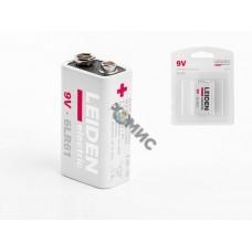 Батарейка 6LR61 9V alkaline 1шт. LEIDEN ELECTRIC