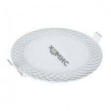 Встраиваемый потолочный светодиодный светильник DLR005 12W 4200K WH белый, РФ