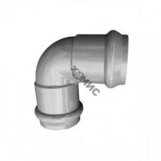 Отвод двухраструб. НПВХ сер. нап. с манж. Ру 1.0 Мпа Дн 110х90*, Китай