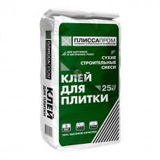 Клей для плитки усиленный Плисса 25кг (РСС, облицовочная цементная М200, К-2, St-2, F100), РБ