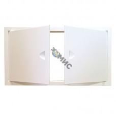Люк-дверца ревизионная металлическая с двумя дверцами 700х800 ЛММ/2 7080, Россия