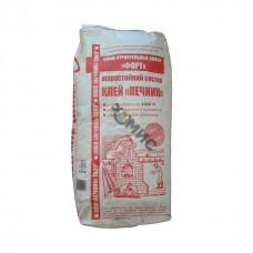 Клей для кладки печей и каминов облицовывания керам плитки (термостойкий) ПЕЧНИК Форт-Макси 25 кг, РБ