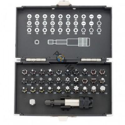 Набор бит  32 пр.  магнитный адаптер, сталь S2, пластиковый кейс, GROSS (11363) РФ