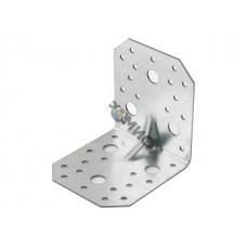 Уголок крепежный усиленный 90х100х100 мм С 2.0 мм белый цинк STARFIX