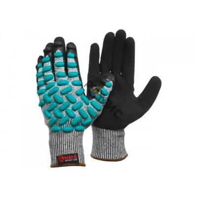 Перчатки виброзащитные из НРРЕ-нити с латексным покрытием р.10(XL)