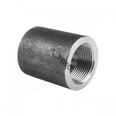 Муфта стальная  прямая Ду20 (3/4) ВР с фаской 2,5-4мм Китай