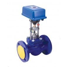 Клапан проходной седельный регулирующий TRV-32-10-101 (с электр.исполнит.механизмом) РБ