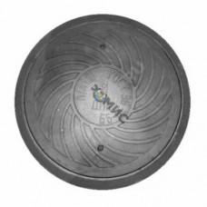 Люк чуг водопровод (В) кругл Л(легкий) (А15) m=55кг ГОСТ 3634-99 ДПК Россия